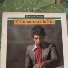Discos de vinilo: CAMARÓN DE LA ISLA. MAESTROS DEL FLAMENCO. LP. Lote 294115498