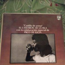 Discos de vinilo: CAMARÓN DE LA ISLA. CASTILLO DE ARENA. LP.. Lote 294115568