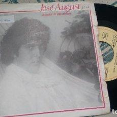 Discos de vinilo: SINGLE (VINILO)-PROMOCION- DE JOSE AUGUSTO AÑOS 80. Lote 294123798