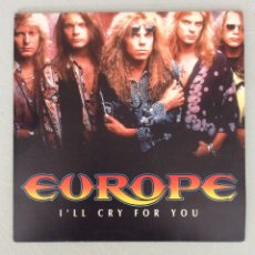 Discos de vinilo: EUROPE. I'LL CRY FOR YOU.. Lote 294126268