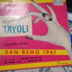 Discos de vinilo: E.P. 8VINILO) DE LUCIANO TAYOLI AÑOS 60. Lote 294128778