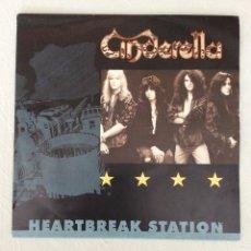 Discos de vinilo: CINDERELLA. HEARTBREAK STATION. SICK FOR THE CURE.. Lote 294129893