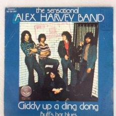 Discos de vinilo: THE SENSATIONAL. ALEX HARVEY BAND. GIDDY UP A DING DONG. BUFF'S BAR BLUES.. Lote 294133563