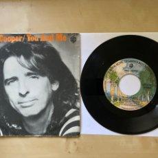 """Discos de vinilo: ALICE COOPER - YOU AND ME - SINGLE 7"""" SPAIN 1977. Lote 294145953"""