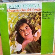 """Discos de vinilo: ORQUESTA ORO DEL CARIBE - RITMO TROPICAL (7""""). Lote 294149578"""