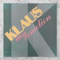 Discos de vinilo: MAXI-SINGLE - KLAUS - MY EMOTION - DISCOS GAMES - 1986 (ITALO-DISCO). Lote 294174388