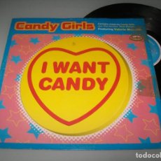 Discos de vinilo: CANDY GIRLS - I WANT CANDY - ( FEATURING VALERIE MAICOLM )..MAXISINGLE - U.K - REMIXES. Lote 294175393