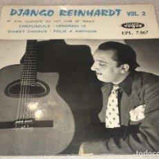 Discos de vinilo: EP DIANGO REINHARDT ET SON QUINTETTE DU HOT CLUB DE FRANCE - CRÉPUSCULE Y OTROS - PEDIDO MINIMO 7€. Lote 294367948