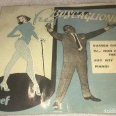 Discos de vinilo: EP FRED BUSCAGLIONE Y SUS ASTERNOVAS - GUARDA CHE LUNA Y OTROS TEMAS - CETRA - PEDIDO MINIMO 7€. Lote 294369558