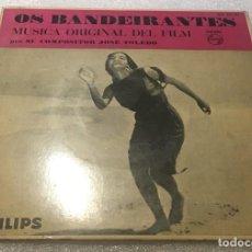 Discos de vinilo: EP ORIGINAL DEL FILM OS BANDEIRANTES - JOSE TOLEDO - CANCAO DOS JANGADEIROS Y OTROS-PEDIDO MINIMO 7€. Lote 294373568