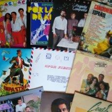 Discos de vinilo: LOTE 10 LP: CANCIONERO ESPAÑOL, AGUACATE Y OTROS. Lote 294431143