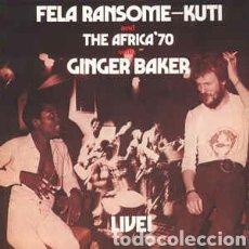 Discos de vinilo: FELA RANSOME-KUTI ANDTHE AFRICA 70 WITHGINGER BAKER–LIVE! - LP VINILO NUEVO PRECINTADO.. Lote 294432833