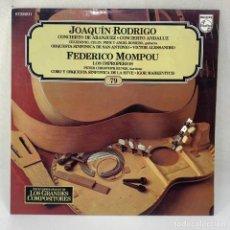 Discos de vinilo: LP CONCIERTO DE ARANJUEZ - CONCIERTO ANDALUZ - JOAQUIN RODRIGO - FEDERICO MOMPOU - ESPAÑA - 1982. Lote 294441373