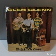 Discos de vinilo: DISCO VINILO LP. GLEN GLENN – ROCKABILLY LEGEND. 33 RPM.. Lote 294449278