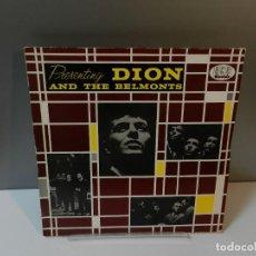 Discos de vinilo: DISCO VINILO LP. DION AND THE BELMONTS – PRESENTING DION AND THE BELMONTS. 33 RPM.. Lote 294453898