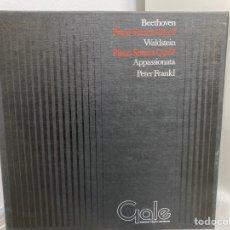 Discos de vinilo: BEETHOVEN - PETER FRANKL - PIANO SONATA OP.53 & OP.57 APPASSIONATA (LP + BOX). Lote 294448948