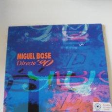 Discos de vinilo: MIGUEL BOSE DIRECTO 90 2LP ( 1991 WEA ESPAÑA ). Lote 294463263