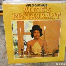 Discos de vinilo: CAJJ146 LP FOLK ARLO GUTHRIE ALICES RESTAURANT UK 70S BUEN ESTADO. Lote 294482358