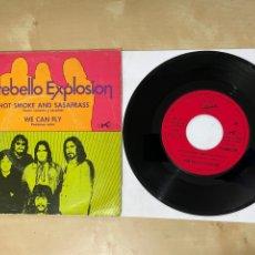 """Discos de vinilo: PORTEBELLO EXPLOSION - HOT SMOKE AND SASAFRASS / WE CAN FLY - SINGLE 7"""" SPAIN 1970 PROMO. Lote 294489713"""
