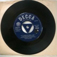 Discos de vinilo: WINIFRED ATWELL. LET'S ROCK 'N' ROLL: SINGING THE BLUES/ GREEN DOOR/ SHAKE RATTLE +4. DECCA. UK 1957. Lote 294493068