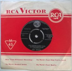 Discos de vinilo: NEIL SEDAKA. CRYING MY HEART OUT FOR YOU/ YOU GOTTA LEARN YOUR RHYTHM AND BLUES. RCA, UK 1959 SINGLE. Lote 294493903