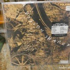 Discos de vinilo: CAJJ146 LP FOLKWAYS UK 1988 A VISIN SHARED TRIBUTO TO WOODY GUTHIRE Y LEADBELLY BUEN ESTADO. Lote 294495793