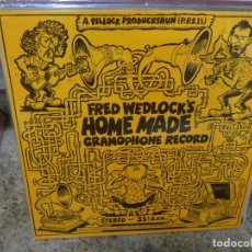 Discos de vinilo: CAJJ146 LP UK 1975 FRED WEDLOCK HOME MADE GRAMOPHONE MACHINE BUEN ESTADO. Lote 294499473