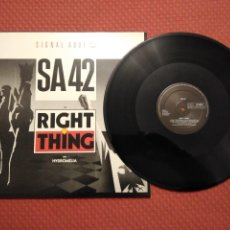 Discos de vinilo: SIGNAL AOUT 42 - RIGHT THING LD RECORDS MADE IN BELGIUM. Lote 294503093