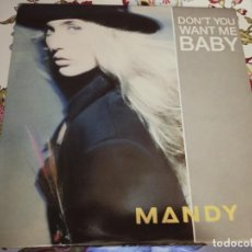 "Discos de vinilo: MANDY* - DON'T YOU WANT ME BABY (12"")1989. PWL RECORDS CAT. N.º: PWLT 37. NUEVO. MINT / VG+++. Lote 294507108"
