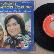Discos de vinilo: CINDY & BERT / ABER AM ABEND / SINGLE 7 PULGADAS. Lote 294557078