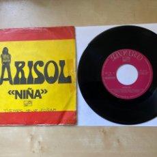 "Discos de vinilo: MARISOL - NIÑA - SINGLE PREMIO DE LA CANCIÓN IBEROAMERICANA FESTIVAL OTI - 1972 PROMO 7"". Lote 294573263"