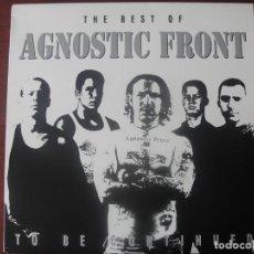 Discos de vinilo: L P AGNOSTIC FRONT THE BEST NUEVO HARDCORE. Lote 294574628