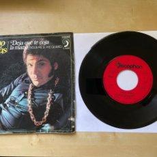 """Discos de vinilo: BRUNO LOMAS - DEJA QUE TE COJA LA MANO - SINGLE 7"""" SPAIN 1972. Lote 294577668"""