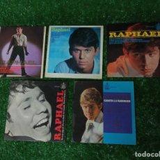 Discos de vinilo: LOTE 5 DISCOS SINGLE VINILO RAPHAEL HISPAVOX AÑOS 60. Lote 294817688