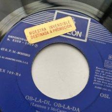 """Discos de vinilo: THE BEATLES - OB-LA-DI OB-LA-DA / WHILE MY GENTLY WEEPS - SINGLE 7"""" 1969 SPAIN PROMO. Lote 294820703"""