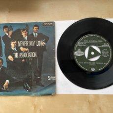 "Discos de vinilo: THE ASSOCIATION - NEVER MY LOVE - SINGLE 7"" 1967 SPAIN PROMO. Lote 294824608"