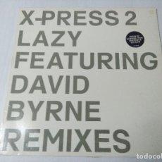 Discos de vinilo: DAVID BYRNE/X-PRESS 2 LAZY.. Lote 294824818
