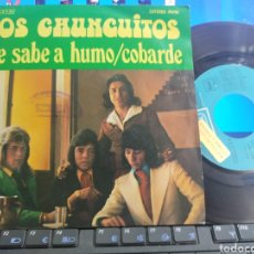 Discos de vinilo: LOS CHUNGUITOS SINGLE ME SABE A HUMO 1974. Lote 294827938
