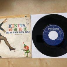 """Discos de vinilo: KINITA - YO YO YE YR / BUM BAN BAN - SINGLE 7"""" 1969 SPAIN. Lote 294829318"""
