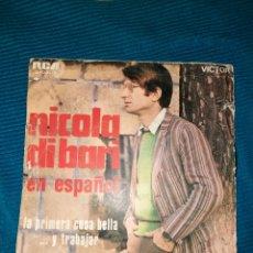 Discos de vinilo: NICOLA DI BARI EN ESPAÑOL, LA PRIMERA VOSA BELLA Y TRABAJAR. RCA. Lote 294838353