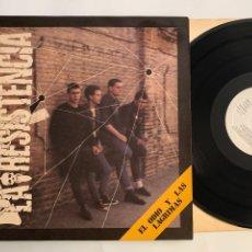 Discos de vinilo: LP LA RESISTENCIA EL ODIO Y LAS LAGRIMAS PRIMERA EDICIÓN ESPAÑOLA DE 1985. Lote 294842413