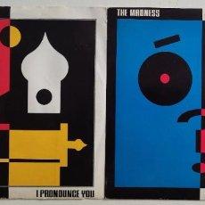 Discos de vinilo: THE MADNESS -LOTE 2 SINGLES 1988 EDICIONES UK SKA BRIT POP. Lote 294844573