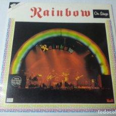 Discos de vinilo: RAINBOW/ON STAGE/VINILO METAL DOBLE GATEFOLD.. Lote 294850558