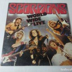 Discos de vinilo: SCORPIONS/WOLD WIDE LIVE/VINILO METAL DOBLE GATEFOLD.. Lote 294852898