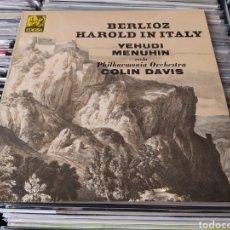 Discos de vinilo: HECTOR BERLIOZ-YEHUDI MENUHIN-COLIN DAVIS–HAROLD IN ITALY. LP VINILO. Lote 294852913