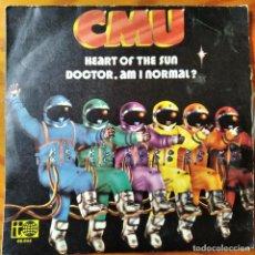 Discos de vinilo: CMU - HEART OF THE SUN/ DOCTOR. AM I NORMAL? - SINGLE 1973. Lote 294857213