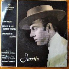 Discos de vinilo: JARRITO- COMO RELUCE/ GRITALO A LOS CUATRO VIENTOS/ CANTABAN EN ARAGON - EP 1961. Lote 294857423
