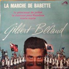 Discos de vinilo: GILBERT BECAUD- LA MARCHE DE BABETTE/ LA PRINCESSE DE JUILLET/ MARIE MARIE +1. EP FRANCIA 1959. Lote 294863258