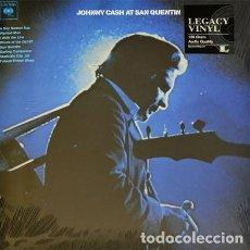 Discos de vinilo: JOHNNY CASH JOHNNY CASH AT SAN QUENTIN - LP - NUEVO PRECINTADO. Lote 294865633