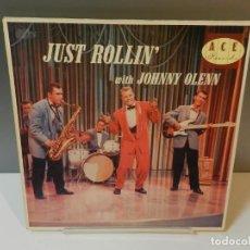 Discos de vinilo: DISCO VINILO LP. JOHNNY OLENN – JUST ROLLIN' WITH JOHNNY OLENN. 33 RPM. Lote 294865838